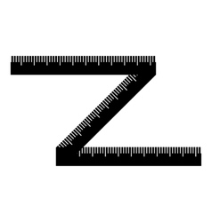 Measuring tape icon simple style vector