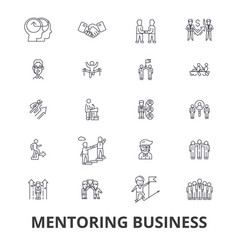 Mentoring business mentor coaching business vector
