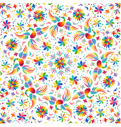 Mexican rainbow seamless pattern vector