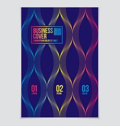 modern minimal template brochure leaflet poster vector image