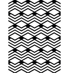 Monochrome geometric art seamless pattern mosaic vector image vector image