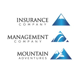 mountain theme logo vector image