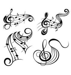 Music symbols vector