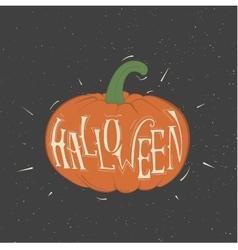 orange pumpkin for Halloween vector image