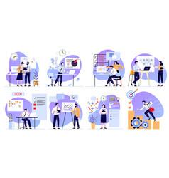 organized office work task planner time vector image