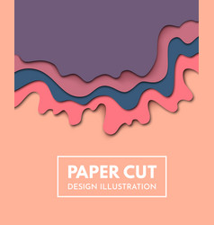 paper cut background abstract origami wave vector image