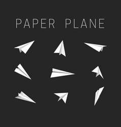 Paper planes icons vector