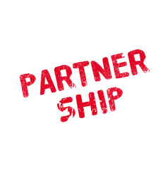 Partner ship rubber stamp vector