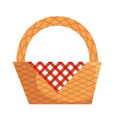 picnic basket empty vector image