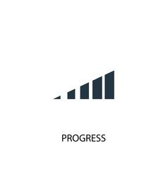 progress icon simple element vector image