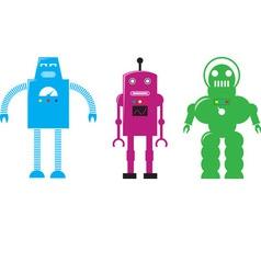 Retro Robots vector image