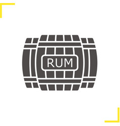 Rum wooden barrels glyph icon vector