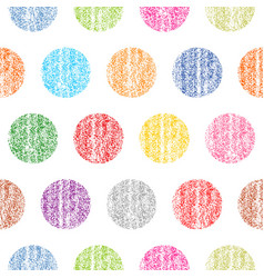Seamless pattern polka dot vector