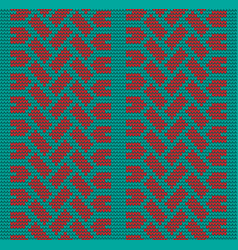 seamless red tire track knitting vector image