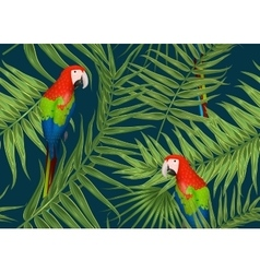 Seamless tropical pattern exotic background with vector