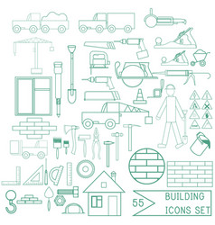 set of repair and building icons for design vector image