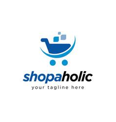 Shopping cart logo design inspiration vector