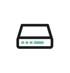 simple icon of server flat bicolor line design vector image