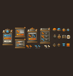 Steampunk full asset for your mobile game retro vector