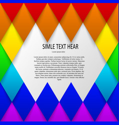 text in colorfull mosaic background vector image