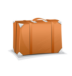 travel leather suitcase vector image