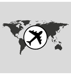 Traveling world airport plane design graphic vector