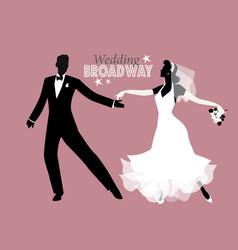 wedding dance bride and groom dancing broadway vector image