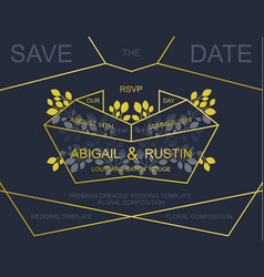 wedding invite card design vector image