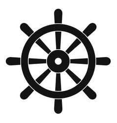Wooden ship wheel icon simple vector