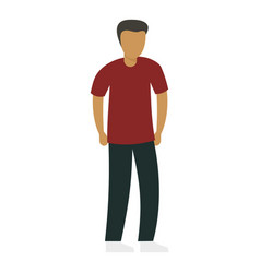 Young student icon flat style vector