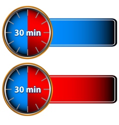 30 minutes labels vector