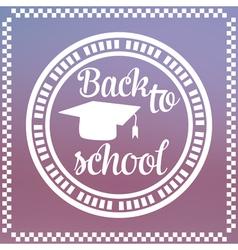 Back to School Label vector image