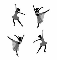 Ballet dancer Girl silhouettes vector image