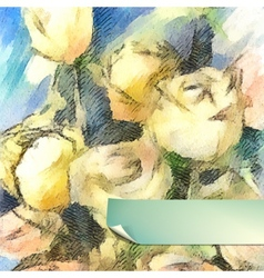 Flower Watercolor Roses vector image vector image