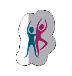 people couple dancing icon vector image
