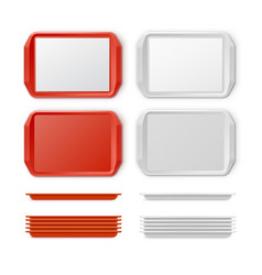 set of plastic salver vector image vector image