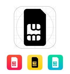 Standard SIM card icon vector image