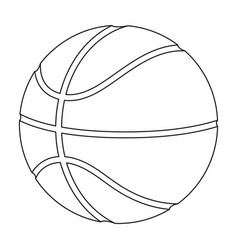 basketballbasketball single icon in outline style vector image