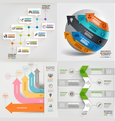Business marketing infographic template vector image vector image