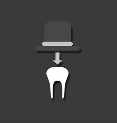 Flat icon design collection dental crown in vector