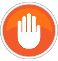 icon hand vector image vector image
