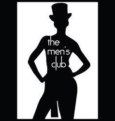 men s club vintage labels vector image