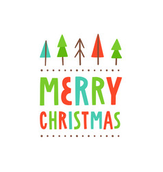 merry christmas cute greeting card vector image vector image