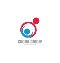 poeople social logo vector image