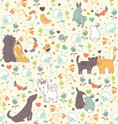 Spring seamless pattern pattern vector image