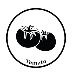 Tomatoes icon vector image vector image