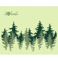 Abstract banner of coniferous forest vector image vector image