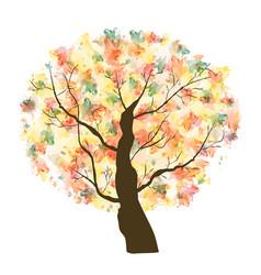 autumn paint textured art tree vector image vector image