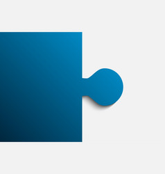 blue piece puzzle jigsaw 2 step vector image