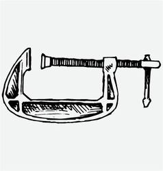 Clamp compression tool vector image